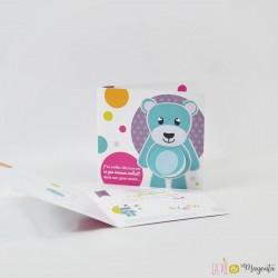 Faire-part Petit ours - découpe