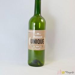 Etiquette de vin Parrain unique