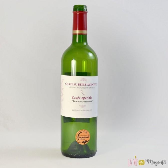 Etiquette de vin Tu vas être tonton