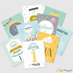 Kit cartes étapes - La première année de bébé