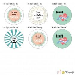 Badges famille