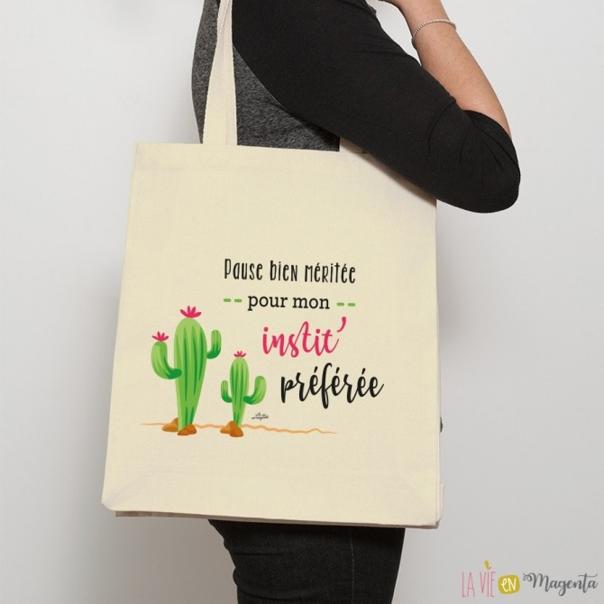 Sac shopping Instit Cactus
