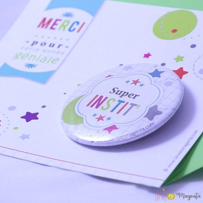 Carte badge super instit'
