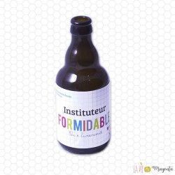 Etiquette de bière ou vin instit