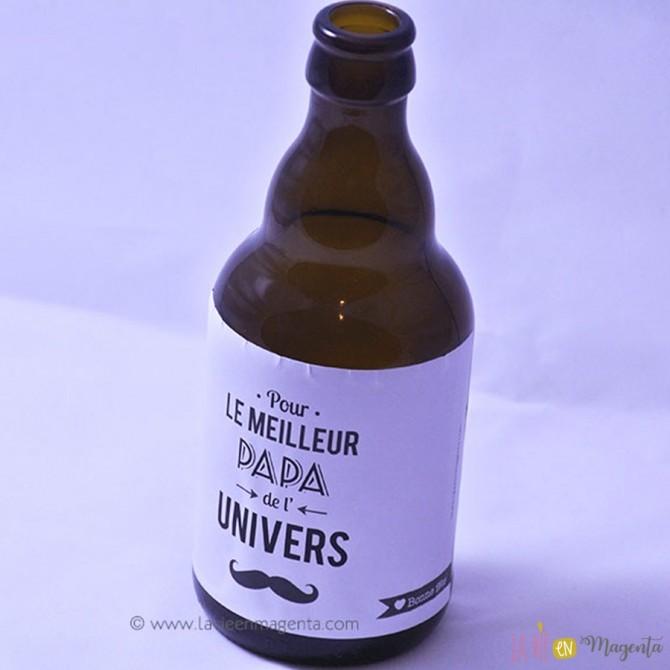Etiquette de bière ou vin papa