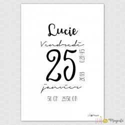 Cadre naissance - Lucie
