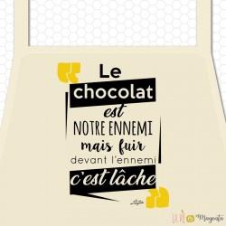 Tablier adulte - Le chocolat est notre ennemi