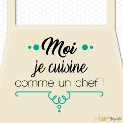 Tablier enfant - Moi je cuisine comme un chef