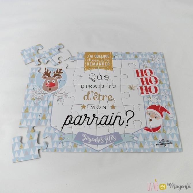 Puzzle Noel parrain
