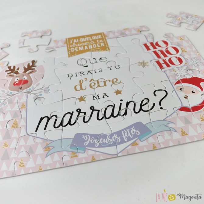 Puzzle de Noël - marraine