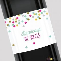 Etiquette pour bouteille - Beaucoup de succès