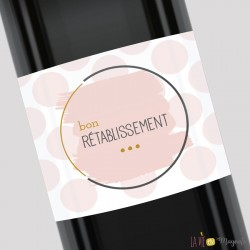 Etiquette pour bouteille - Bon rétablissement