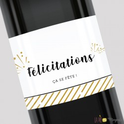Etiquette pour bouteille - Félicitations ça se fête !