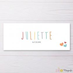 Faire-part Juliette