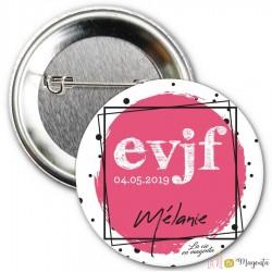 Badge EVJF date + prénom