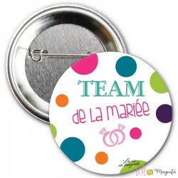 Badge Team de la mariée