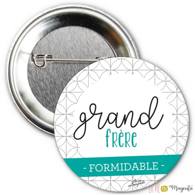 Badge Grand frère formidable