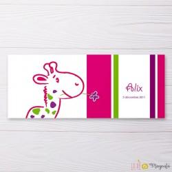 Faire-part Girafon coloré