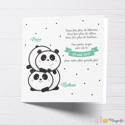 Faire-part Petits oursons de Chine