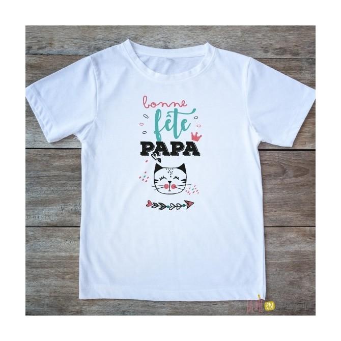 T-shirt Bonne fête papa 4-6 ans - fille