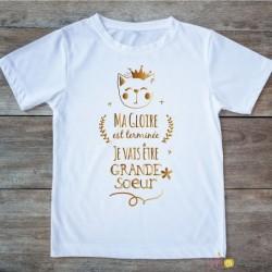 T-shirt Grande soeur 2/4 ans - couronne