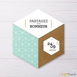 Faire-part Hexagone
