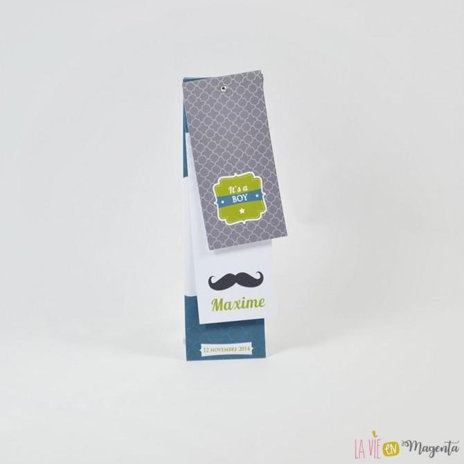 Faire-part Moustache Boy