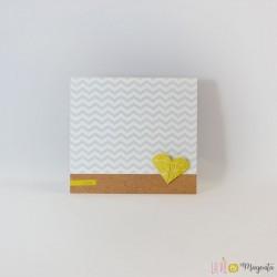 Faire-part Coeur d'origami