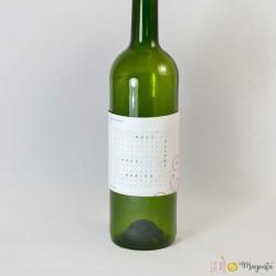 Etiquette de vin Nous allons nous marier-bleu