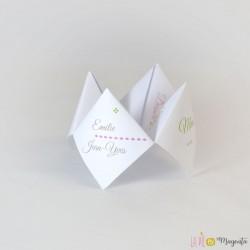 Menu-Cocotte en papier - Lampion
