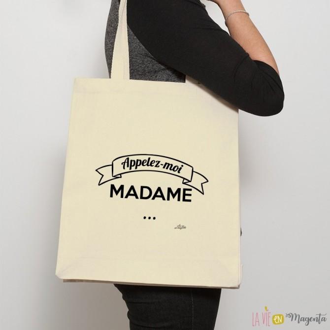 Sac shopping Appelez-moi madame