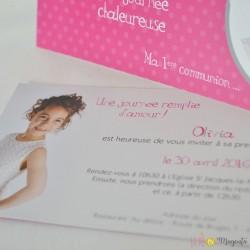 Invitation communion Olivia