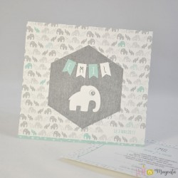 Faire-part Elephant à pois