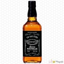 Etiquette bouteille whisky grand-père