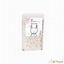 Boîte de dragées Tic Tac lapin