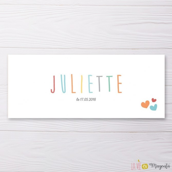 Faire-part Juliette