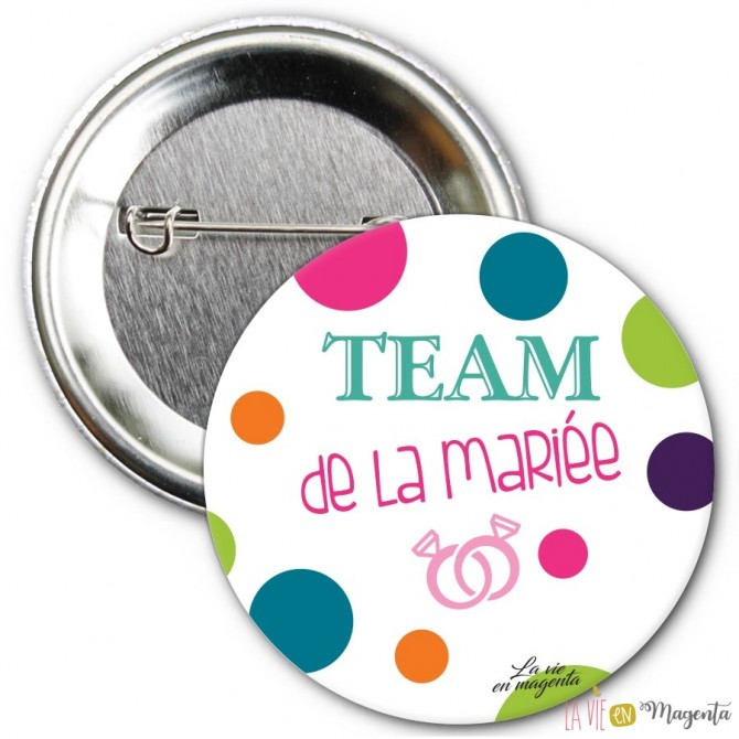 Badge Team de la mariée