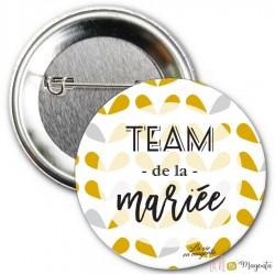 Badge Team de la mariée - fleurs