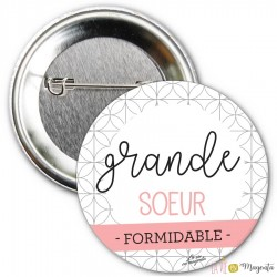 Badge Grande soeur formidable