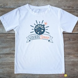 T-shirt Grande soeur 2/4 ans - bombe