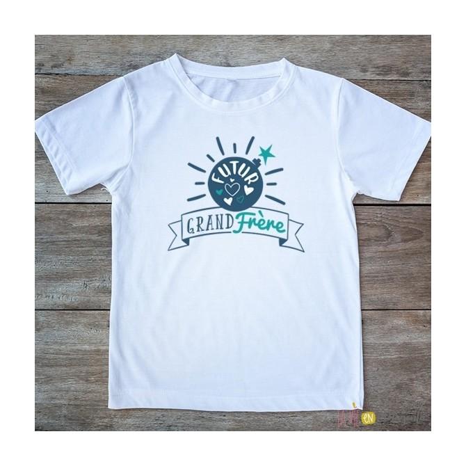 T-shirt Grand frère 2/4 ans - bombe