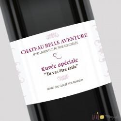 Etiquette de vin Tu vas être tatie