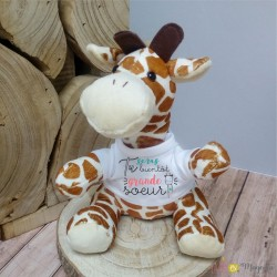 Peluche Girafe - Tu seras bientôt grande soeur