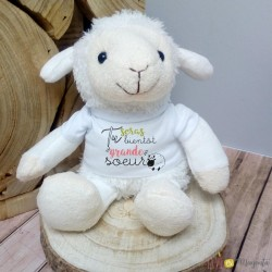 Peluche mouton - Tu seras bientôt grande soeur
