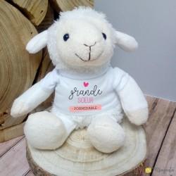 Peluche mouton - Grande soeur formidable