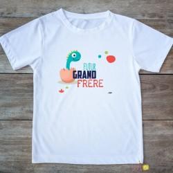 T-shirt Grand frère 2/4 ans - dino