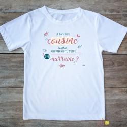 T-shirt Cousine-marraine 2/4 ans