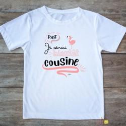 T-shirt Je serai bientôt cousine 2/4 ans