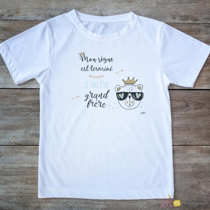 T-shirt Grande soeur 2/4 ans - dino
