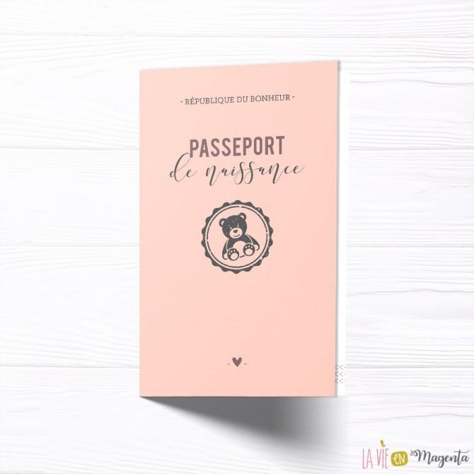 Faire-part Passeport naissance